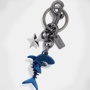 COACH Denim Blue Sharky Shark Bag Charm 29587